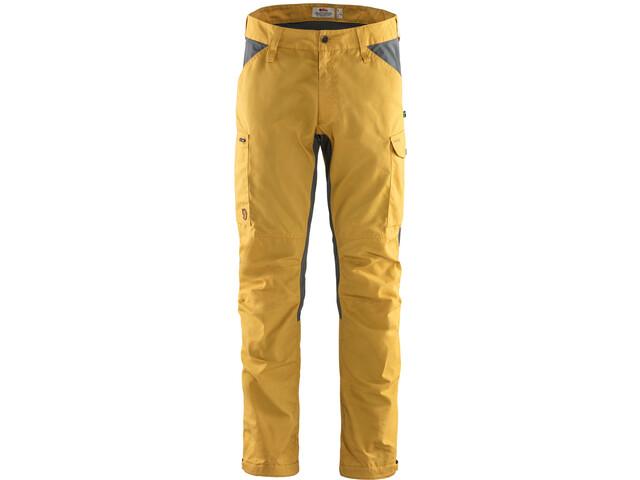 Fjällräven Kaipak Pantaloni Uomo, giallo/grigio